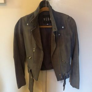 VEDA Jane Suede jacket with silver hardware